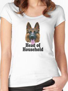 German Shepard: Head of Household Women's Fitted Scoop T-Shirt