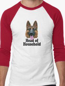 German Shepard: Head of Household Men's Baseball ¾ T-Shirt