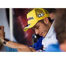 Valentino Rossi - Autograph Stage Phillip Island 2008 Photographic Print