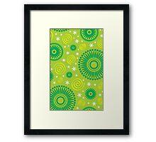 Pop! Green & Lime Framed Print