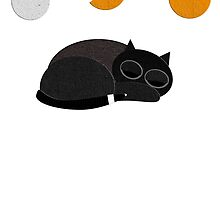 Sleepy Cat Print by scribblechap