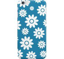 Blue Fun daisy style flower pattern iPhone Case/Skin