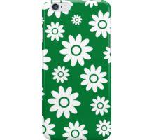 Green Fun daisy style flower pattern iPhone Case/Skin