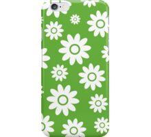 Grass Green Fun daisy style flower pattern iPhone Case/Skin