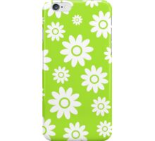 Lime Green Fun daisy style flower pattern iPhone Case/Skin