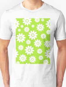 Lime Green Fun daisy style flower pattern Unisex T-Shirt