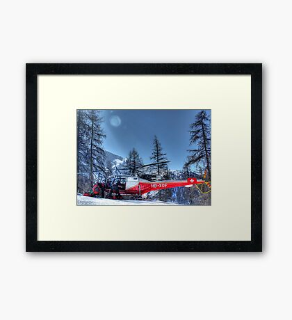 The Air Ambulance (HDR) Framed Print