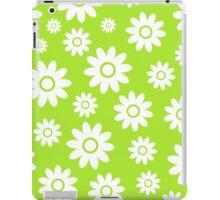 Lime Green Fun daisy style flower pattern iPad Case/Skin