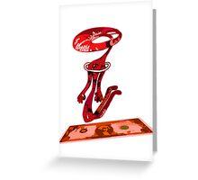 dolar rojo Greeting Card