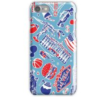 Colourful USA illustration pattern iPhone Case/Skin