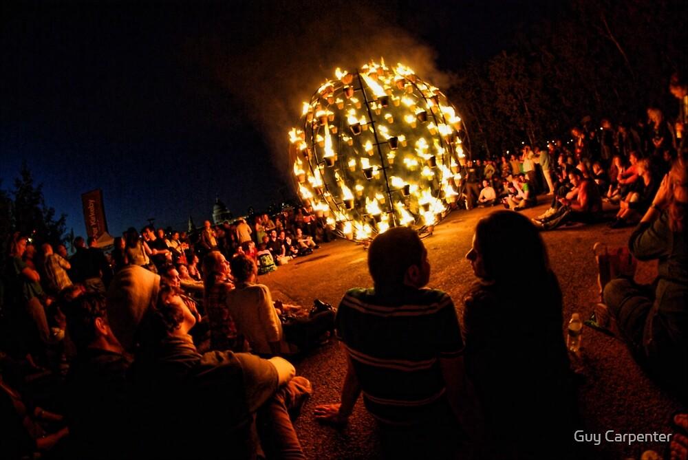 Thames Festival, Fire Garden Couple by Guy Carpenter