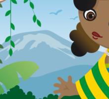 African girl Sticker