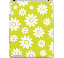 Chartreuse Fun daisy style flower pattern iPad Case/Skin