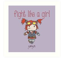 Fight Like a Girl | Robot Maker Art Print