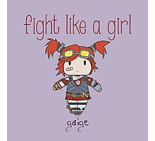 Fight Like a Girl | Robot Maker Photographic Print