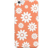 Coral Fun daisy style flower pattern iPhone Case/Skin