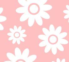 Light Pink Fun daisy style flower pattern Sticker