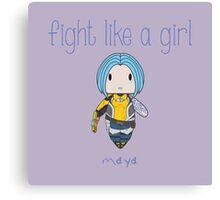 Fight Like a Girl | Tattoo Girl Canvas Print