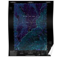 USGS Topo Map Oregon Hat Point 280167 1995 24000 Inverted Poster