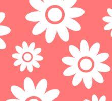Pink Fun daisy style flower pattern Sticker