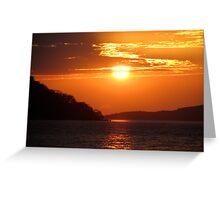 Sunset over Lake Malawi Greeting Card