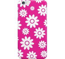 Hot Pink Fun daisy style flower pattern iPhone Case/Skin