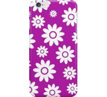 Magenta Fun daisy style flower pattern iPhone Case/Skin