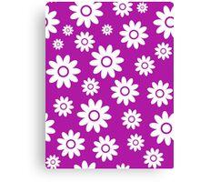Magenta Fun daisy style flower pattern Canvas Print