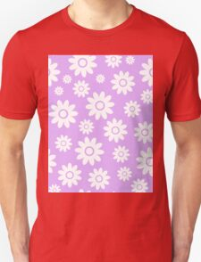 Lilac Fun daisy style flower pattern Unisex T-Shirt