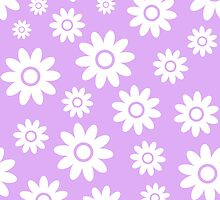 Lilac Fun daisy style flower pattern by ImageNugget