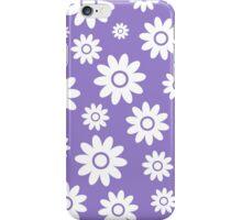 Lavander Fun daisy style flower pattern iPhone Case/Skin