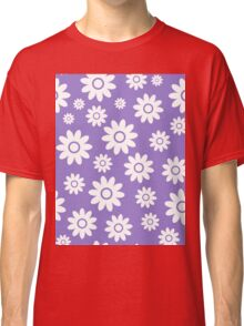 Lavander Fun daisy style flower pattern Classic T-Shirt
