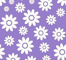 Lavander Fun daisy style flower pattern by ImageNugget