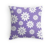 Lavander Fun daisy style flower pattern Throw Pillow
