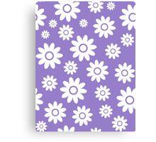 Lavander Fun daisy style flower pattern Canvas Print