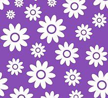Light Purple Fun daisy style flower pattern by ImageNugget