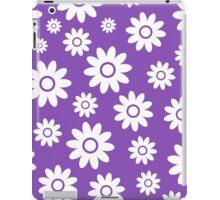 Light Purple Fun daisy style flower pattern iPad Case/Skin