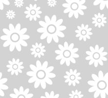 Light Grey Fun daisy style flower pattern by ImageNugget