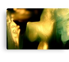 Macro wax - yellow glimmer Canvas Print
