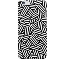 Modern Black and White Stripes Collage Pattern iPhone Case/Skin