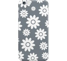 Cool Grey Fun daisy style flower pattern iPhone Case/Skin