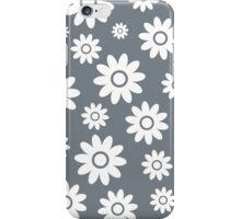 Cool Grey Fun daisy style flower pattern iPhone Case/Skin