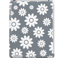Cool Grey Fun daisy style flower pattern iPad Case/Skin
