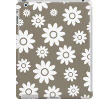 Warm Grey Fun daisy style flower pattern iPad Case/Skin