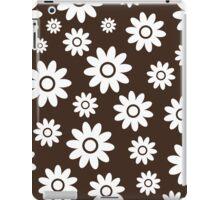 Chocolate Fun daisy style flower pattern iPad Case/Skin