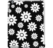 Black Fun daisy style flower pattern iPad Case/Skin