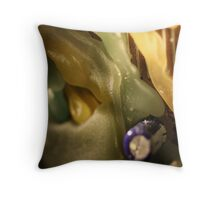 Macro wax - tendrils Throw Pillow