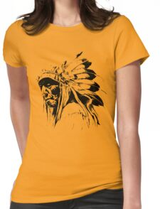 indian apache Womens Fitted T-Shirt