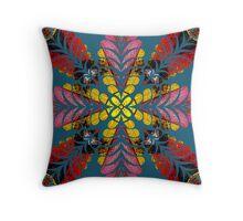 Multi coloured flourish design Throw Pillow