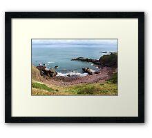 St Abb's Bay Framed Print
